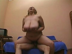 Busty granny loves getting fucked by a young cock