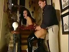 Euro Teen In Latex Gets Hard Cock To Suck And Get Fucked By